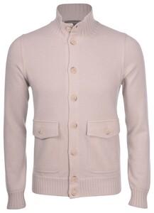 Gran Sasso Cashmere Felted Uni Flanel Effect Vest Beige