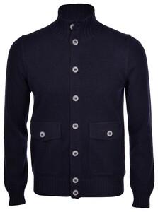 Gran Sasso Cashmere Felted Uni Flanel Effect Vest Blue Navy