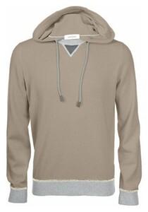 Gran Sasso Cashmere Wool Blend Contrast Edges Trui Licht Bruin