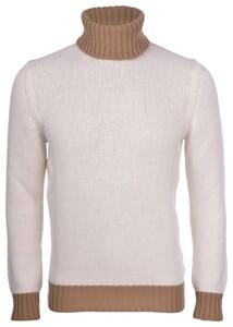 Gran Sasso Color Block Coltrui Geelong Wool Trui Wit
