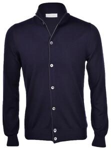 Gran Sasso Extrafine Merino Full Button Cardigan Navy