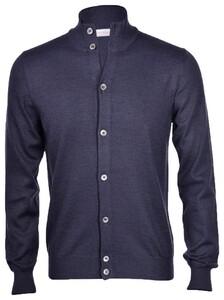 Gran Sasso Extrafine Merino Full Button Cardigan Presidential Blue