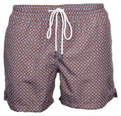 Gran Sasso Fancy Swim Short Swim Short Bruin-Blauw