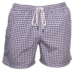 Gran Sasso Fancy Swim Short Swim Short Wit-Blauw
