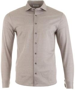 Gran Sasso Fine Structure Overhemd Beige