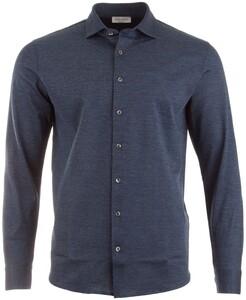 Gran Sasso Fine Structure Shirt Denim Blue