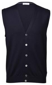 Gran Sasso Gilet Extrafine Merino Fashion Gilet Blue Navy