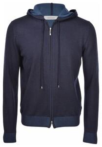 Gran Sasso Hoodie Knit Vest Blue Navy