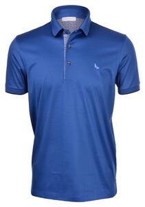 Gran Sasso Jersey Mercerized Cotton Polo Polo Azure