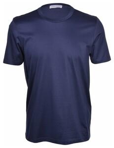 Gran Sasso Lisle Cotton T-Shirt T-Shirt Donker Blauw