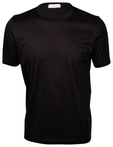 Gran Sasso Lisle Cotton T-Shirt T-Shirt Zwart