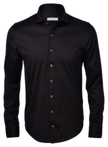 Gran Sasso Mercerized Cotton Jersey Overhemd Zwart
