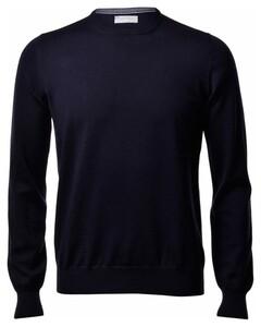 Gran Sasso Merino Extrafine Crew Neck Fashion Pullover Blue Navy