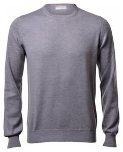 Gran Sasso Merino Extrafine Crew Neck Fashion Pullover Grey