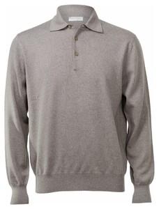 Gran Sasso Merino Extrafine Polo Sweater Pullover Hazel