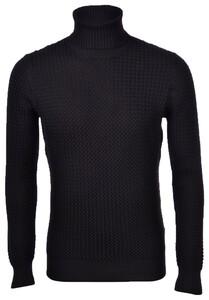 Gran Sasso Merino Wool Extrafine Turtle Pullover Black