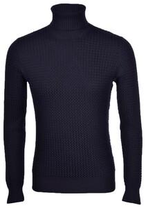 Gran Sasso Merino Wool Extrafine Turtle Pullover Navy