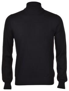 Gran Sasso Mock Merino Extrafine Pullover Black