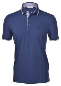 Gran Sasso Piqué Polo Fancy Profile Polo Donker Blauw