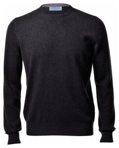 Gran Sasso Pure Cashmere Crew Neck Pullover Charcoal