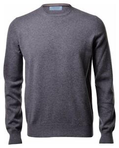 Gran Sasso Pure Cashmere Crew Neck Pullover Grey