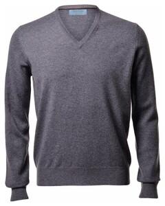 Gran Sasso Pure Cashmere V-Neck Pullover Grey