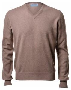 Gran Sasso Pure Cashmere V-Neck Pullover Hazel