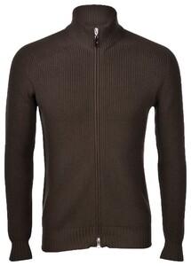 Gran Sasso Rain Wool Idro-Stop Full Zip Cardigan Dark Green