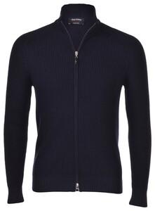 Gran Sasso Rain Wool Idro-Stop Full Zip Cardigan Navy