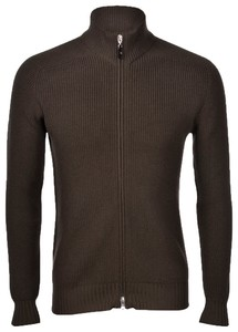 Gran Sasso Rain Wool Idro-Stop Full Zip Vest Donker Groen