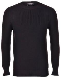 Gran Sasso Rain Wool Idro Stop Merino Extrafine Pullover Black