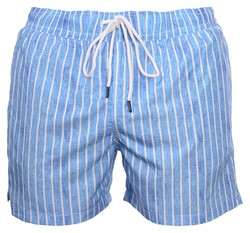 Gran Sasso Striped Swim Short Swim Short Licht Blauw