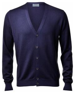 Gran Sasso Vintage Délavé Extrafine Merino Cardigan Cardigan Blue Navy