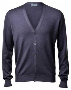 Gran Sasso Vintage Délavé Extrafine Merino Vest Vest Blauwgrijs
