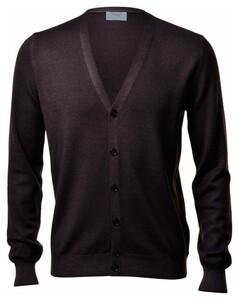 Gran Sasso Vintage Délavé Extrafine Merino Vest Vest Bruin