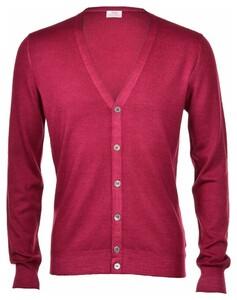 Gran Sasso Vintage Délavé Extrafine Merino Vest Vest Cherry
