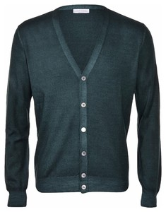 Gran Sasso Vintage Délavé Extrafine Merino Vest Vest Groen