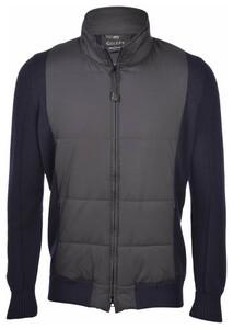 Gran Sasso Water Repellent Wool Nylon Citify Vest Blue Navy