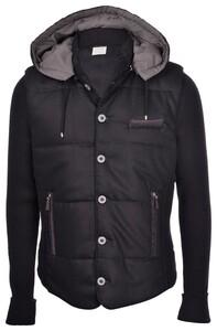 Gran Sasso Wol Flanel Vest Vest Zwart