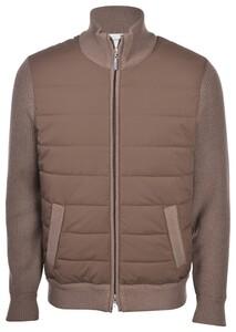 Gran Sasso Wool Zipper Eco Padding Vest Bruin