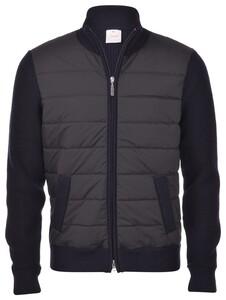 Gran Sasso Wool Zipper Eco Padding Vest Donker Blauw