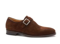 Greve Breda Gespschoen Shoes Tobacco Suede