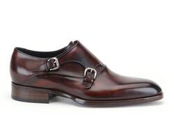Greve Brunello with Belt Shoes Bordeaux Supreme