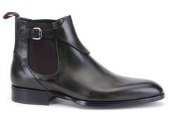 Greve Chelsea Brunello with Belt Shoes Olive Supreme