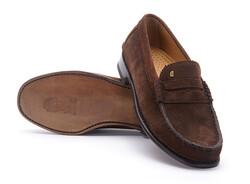 Greve Mocassin Kansas Shoes Brown Suede