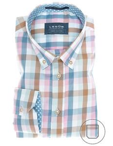 Ledûb Multicolor Sports Check Blauw-Roze