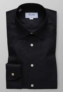 Eton Slim Oxford Button Under Licht Grijs Melange