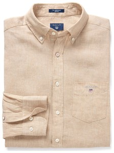 Gant Linnen Shirt Latte Beige