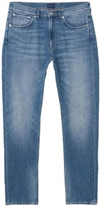 Gant Relaxed Linen Denim Jeans Semi Light Indigo Worn In