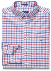 Gant Oxford 3-Color Gingham Strong Coral